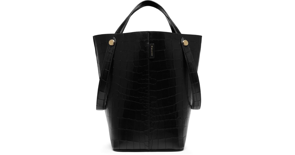 53e13973c0d6 Lyst - Mulberry Kite Leather Tote in Black