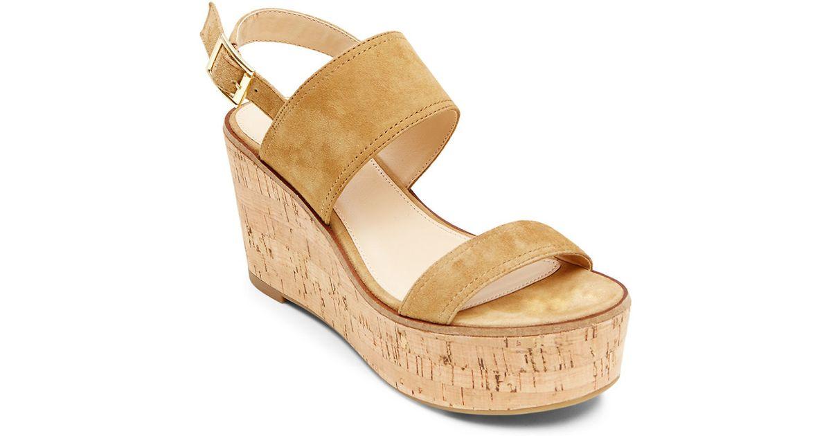 de0e870f795 Steve Madden Natural Catlyn Suede Platform Wedge Sandals