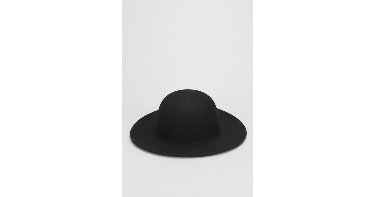 aeb7552f53 Urban Outfitters Wide-Brim Bowler Hat in Black for Men - Lyst