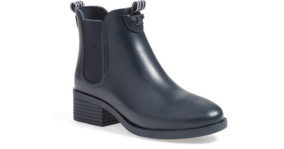 Tory Burch Chelsea Rain Boots in Blue