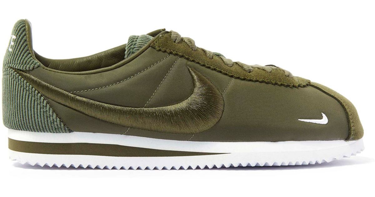 37cd56c84d ... new zealand lyst nike olive classic cortez trainers in green 44c24 35165