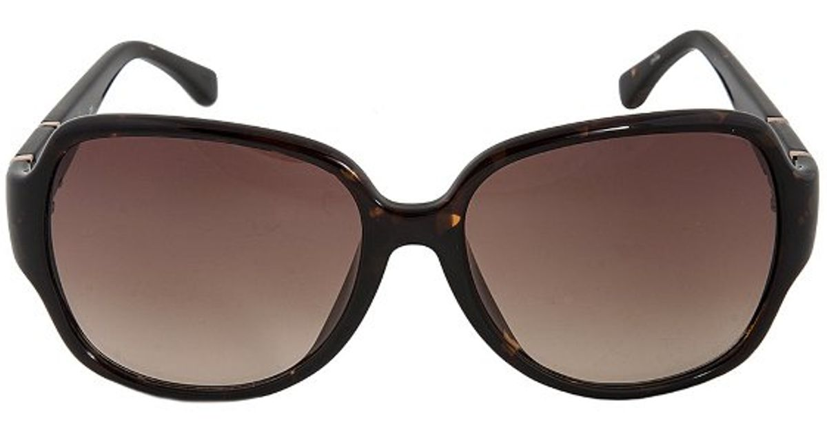 Michael Kors Grayson Sunglasses  michael kors m2777s grayson 206 dark havana brown sunglasses in