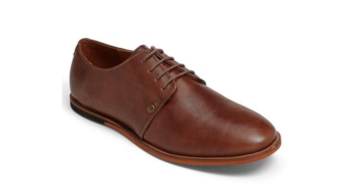 Franc Chaussures Derby Wright En Cuir Brun - Brun qUIVZv