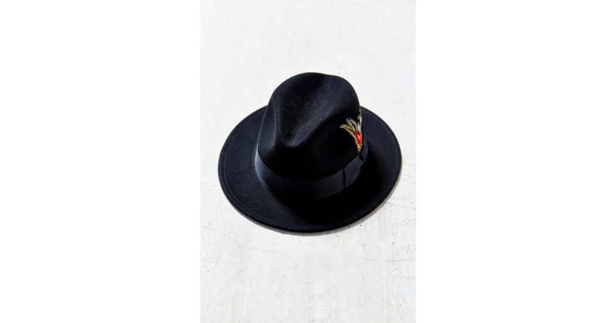 Lyst - BDG Feather Trim Slouch Fedora in Black 71c829d56a2d