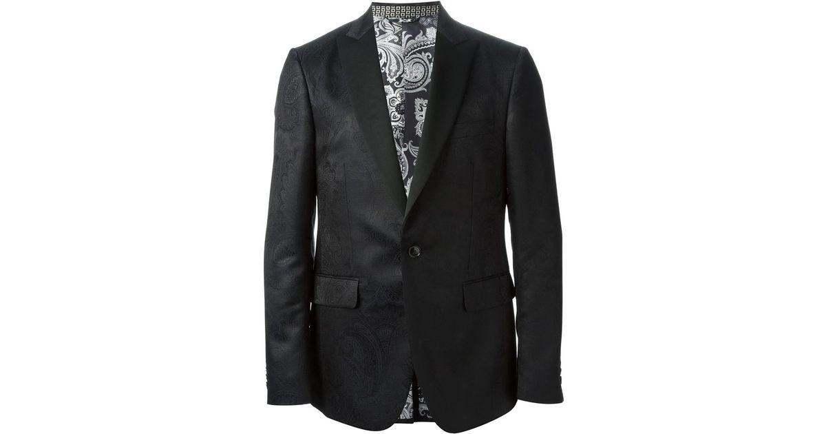 1edc0689dc578 Etro Paisley Pattern Suit in Black for Men - Lyst