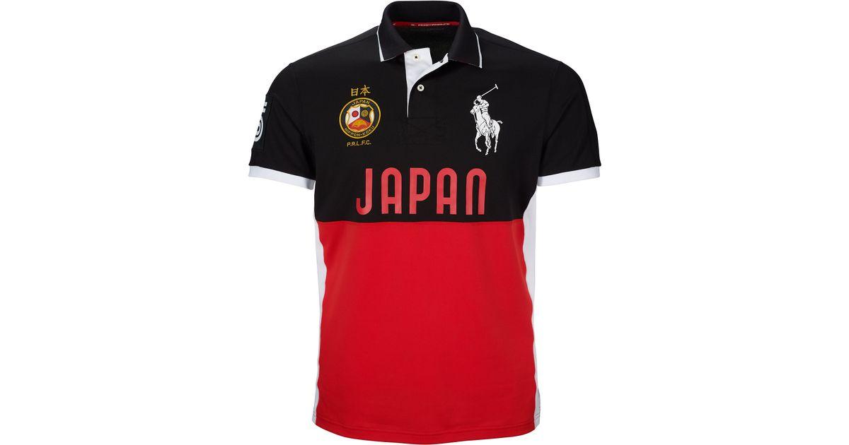 f738d7fe Ralph Lauren Japan Performance Mesh Polo in Red for Men - Lyst