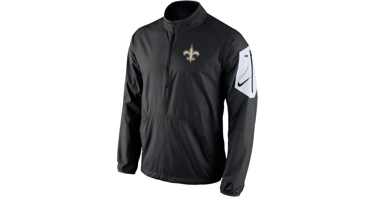 new arrival 96dc7 12f0e Nike Black Men's New Orleans Saints Lockdown Half-zip Jacket for men