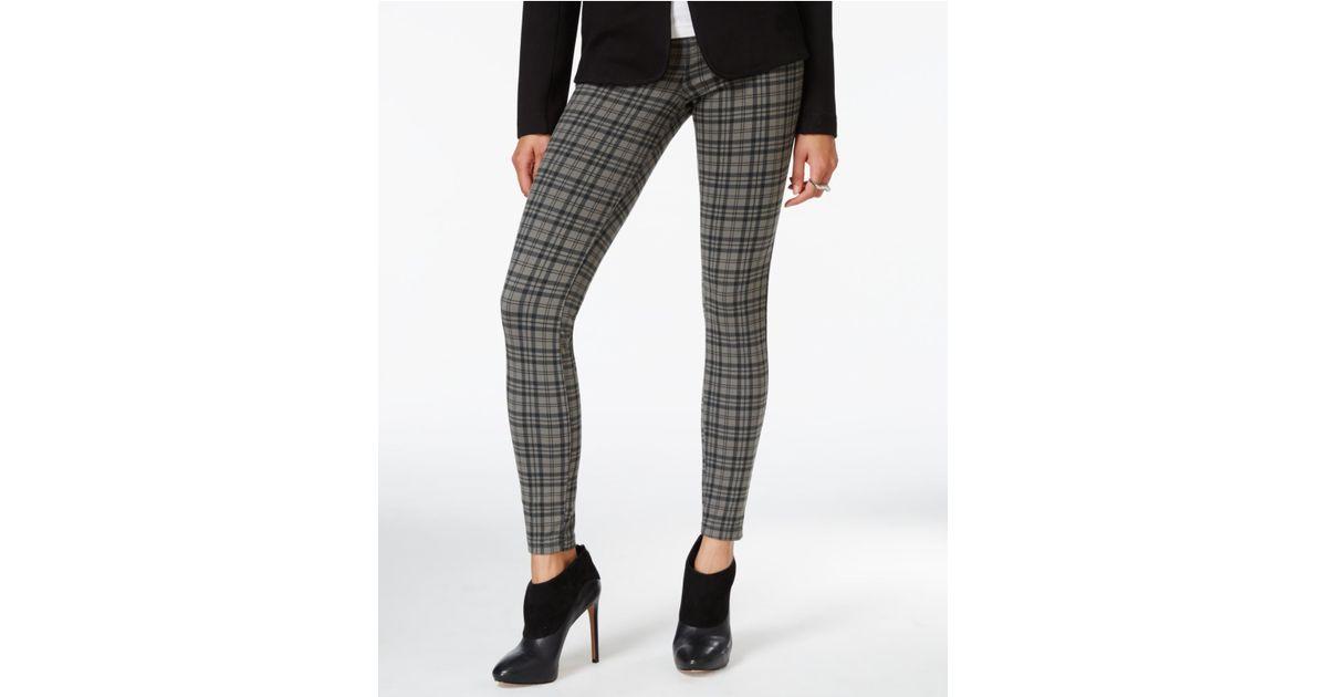 09cb326654606 Hue Plaid Soft Twill Leggings in Black - Lyst