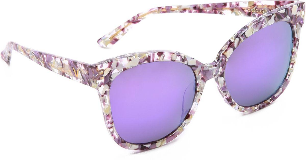 ab11694ce51f Lyst - Gentle Monster La Rouge Sunglasses - Purple Floral Blue in Purple