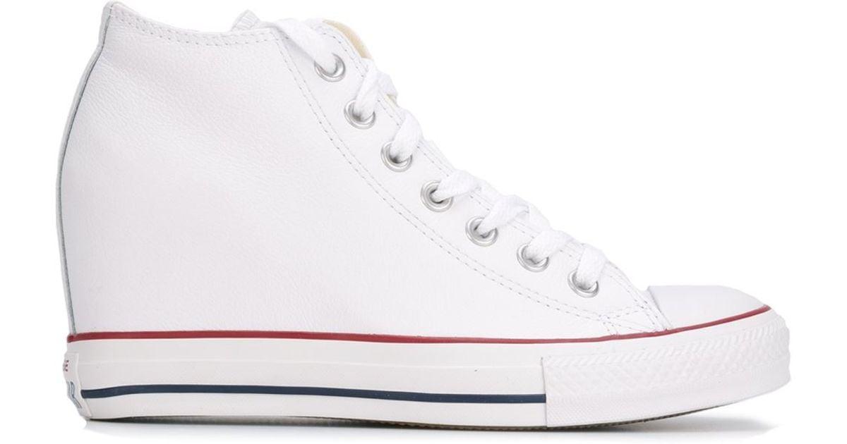 nieuwe afbeeldingen van snelle levering winkel bestsellers Converse White 'chuck Taylor All Star Lux Wedge' Sneakers