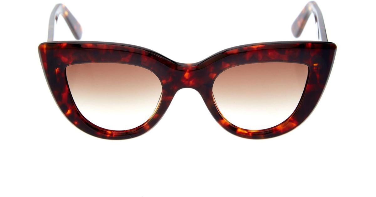 a1721132e3 Ellery Quixote Cat-Eye Sunglasses in Brown - Lyst