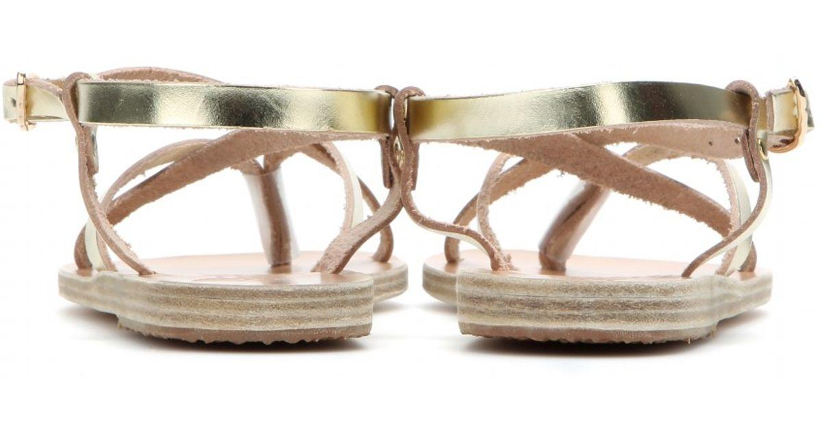 Ancient Greek Sandals Semele Metallic Leather Sandals Lyst