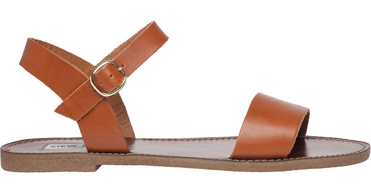 0878336af13 Lyst - Steve Madden Donddi Leather Sandal in Brown