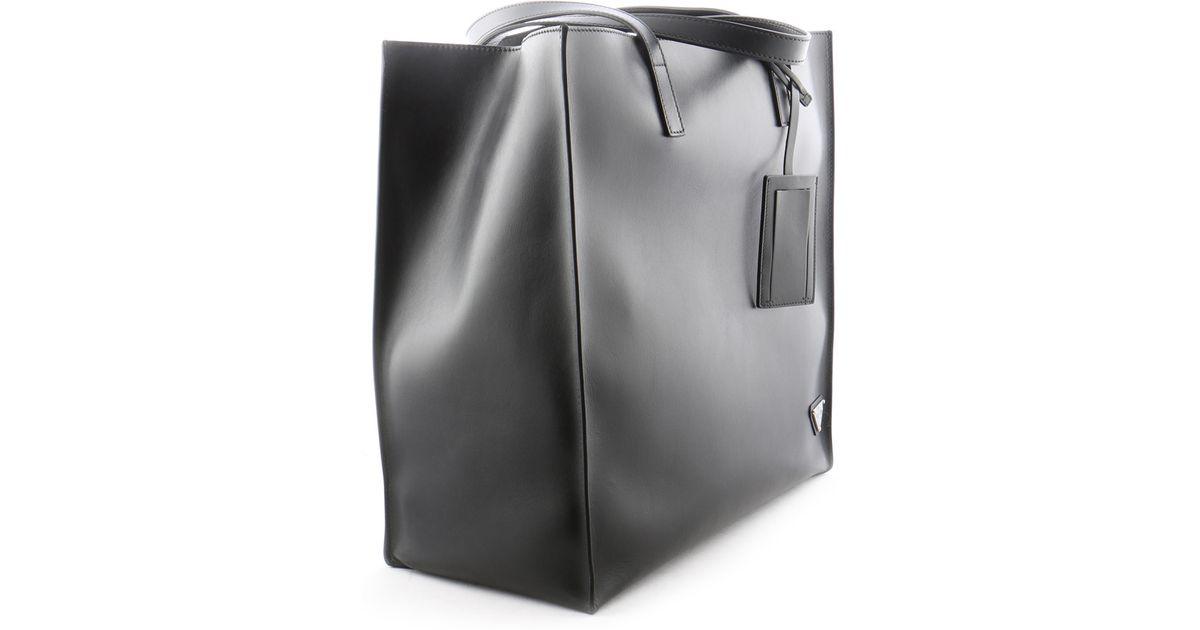 Prada Mens Bag in Black | Lyst - prada galleria bag marble gray + white + baltic blue