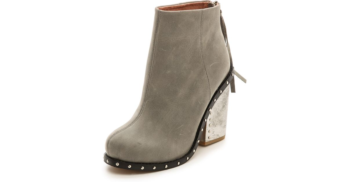 9f9e83c3a4890 Jeffrey Campbell Gray Reverb Chunky Heel Booties Grey