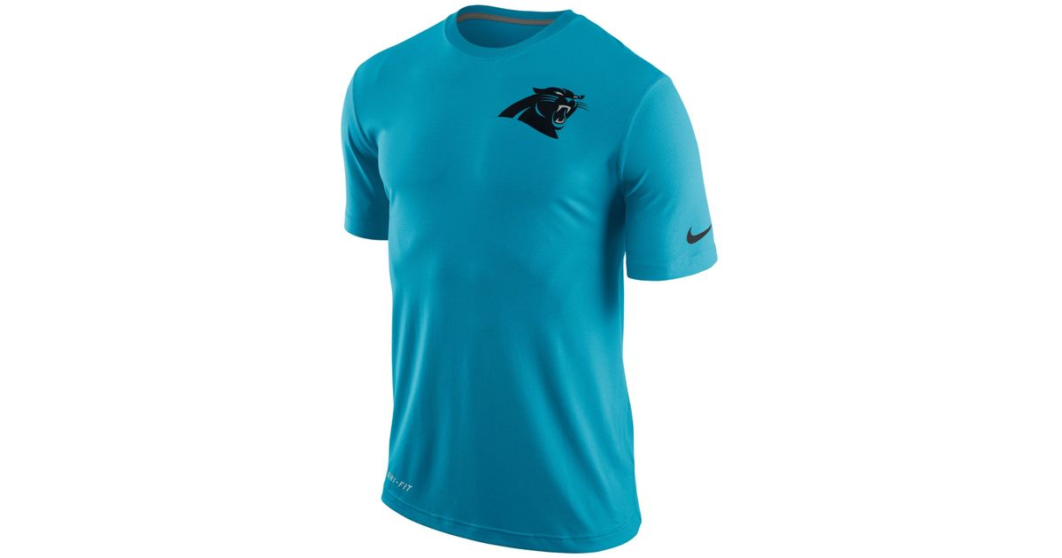 Lyst - Nike Men s Carolina Panthers Dri-fit Touch T-shirt in Blue for Men 308c2a16f