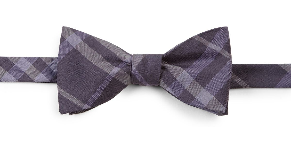 fc4b07744a42 ... coupon code lyst burberry blake check bow tie in purple for men f1fb5  65f18