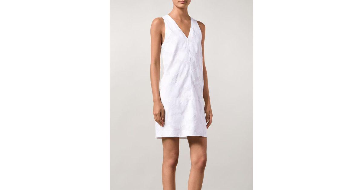 Rag & bone augusta floral applique dress in white lyst