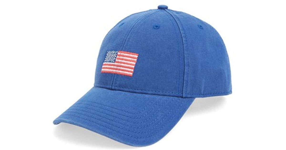70b7db4624c Lyst - Harding - Lane American Flag Needlepoint Baseball Cap in Blue for Men