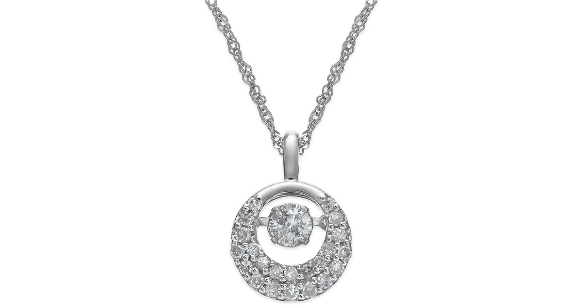 Lyst twinkling diamond star diamond circle pendant necklace in 14k lyst twinkling diamond star diamond circle pendant necklace in 14k white gold 13 ct tw in white aloadofball Gallery