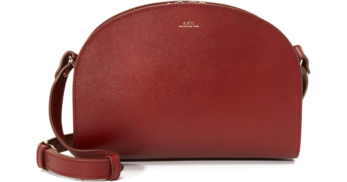 a p c half moon bag in red lyst. Black Bedroom Furniture Sets. Home Design Ideas
