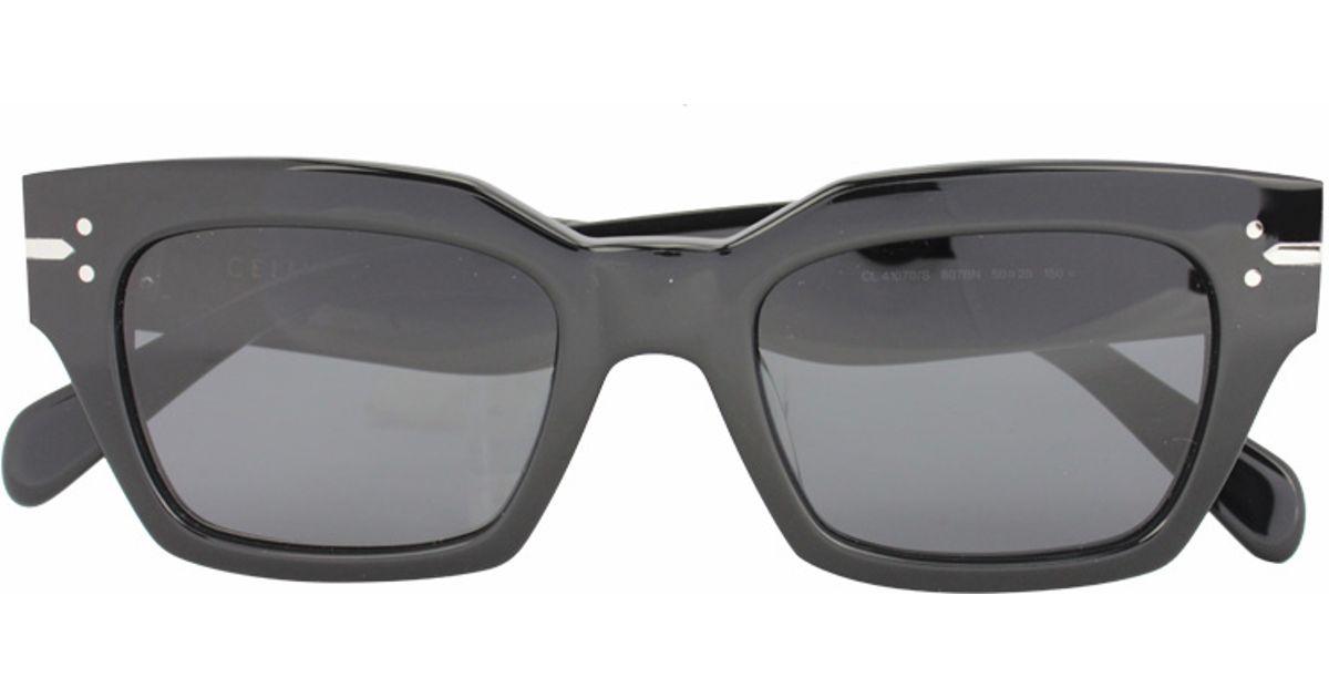 ede07f6b4528 Céline Geometric Sunglasses in Black - Lyst