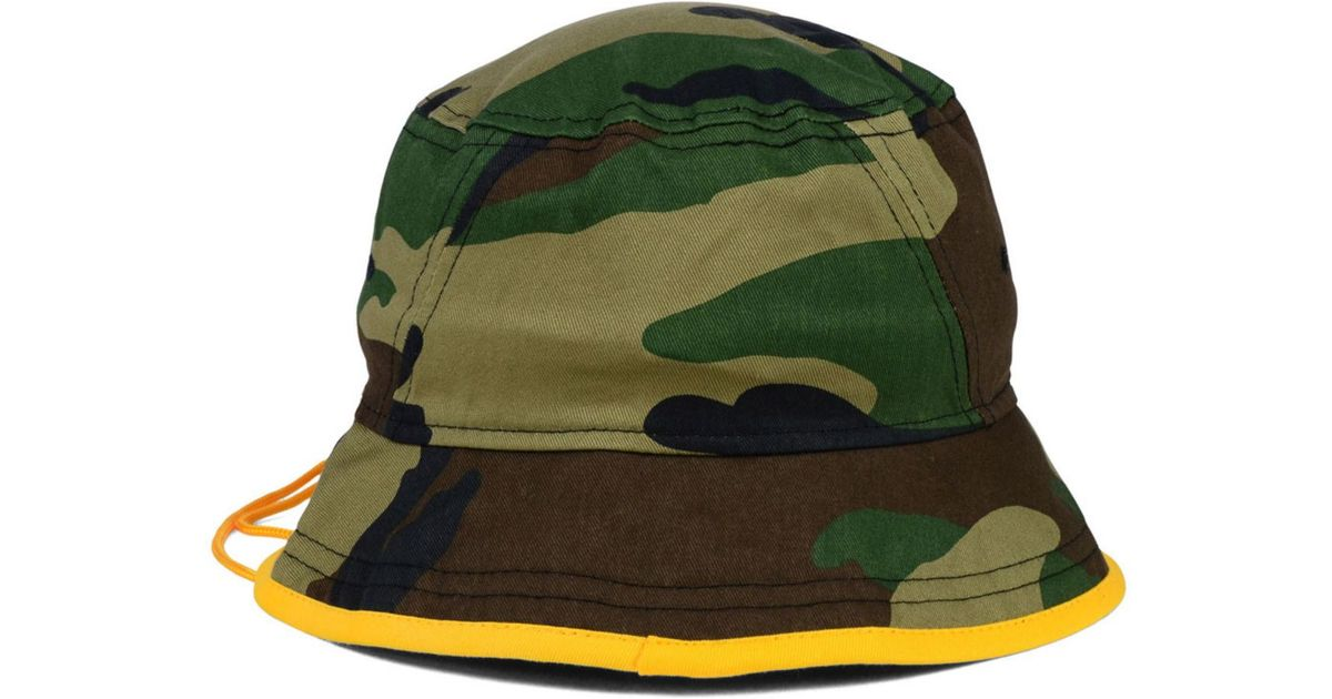 32fa3089 ... where can i buy lyst ktz green bay packers camo pop bucket hat in green  for