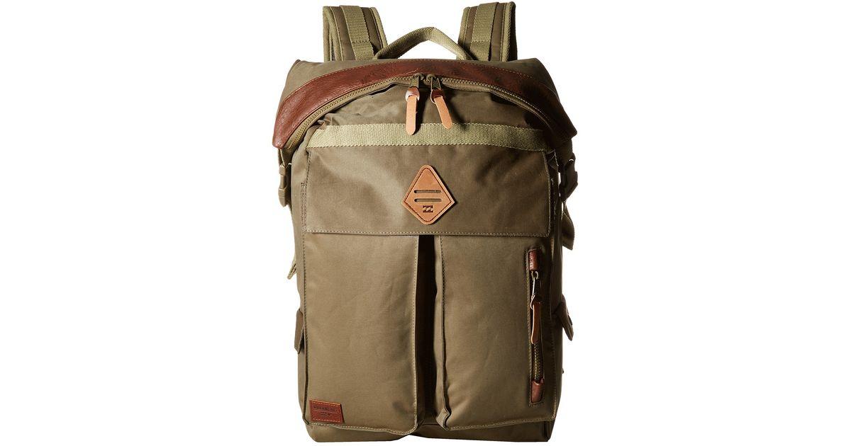 de4bf2a54 Billabong Flux Surf Plus Backpack in Green for Men - Lyst