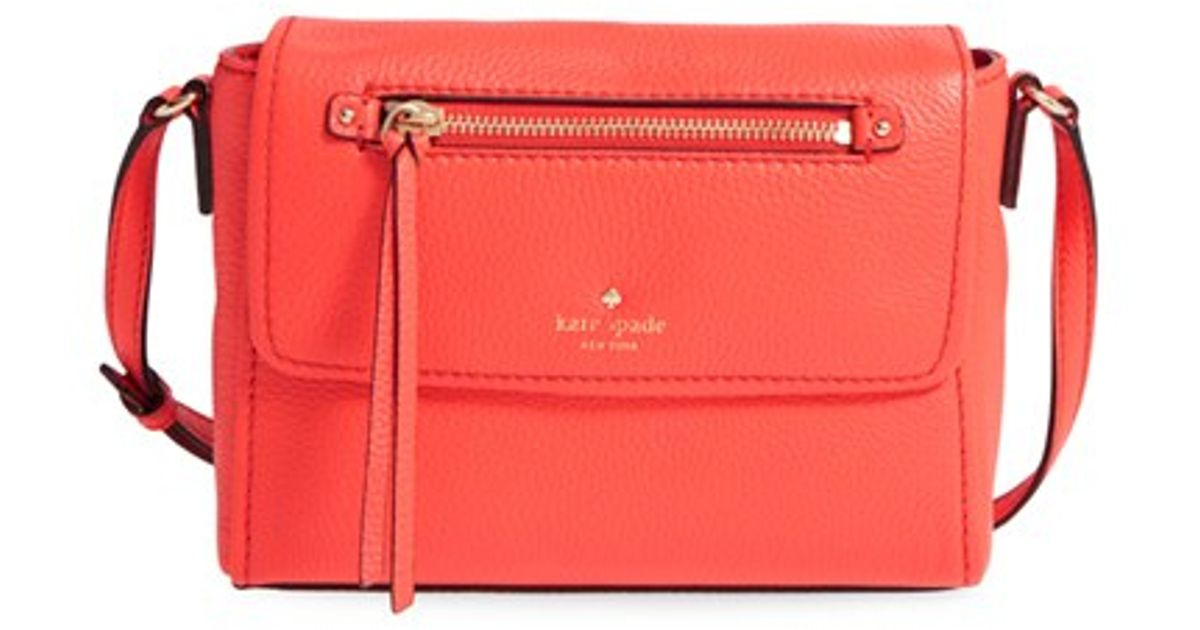 Lyst Kate Spade New York Cobble Hill Mini Toddy Leather Crossbody Bag In Orange