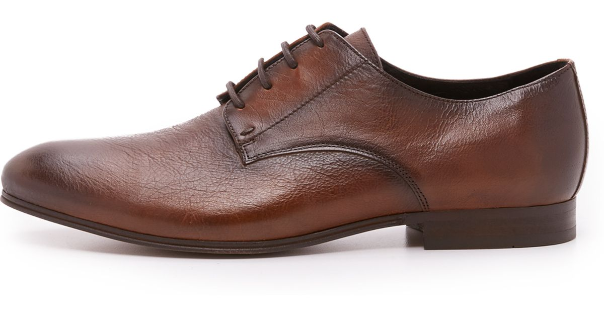 H by Hudson Champlain Derby Shoes in Brown for Men - Lyst 5e0aebbbe