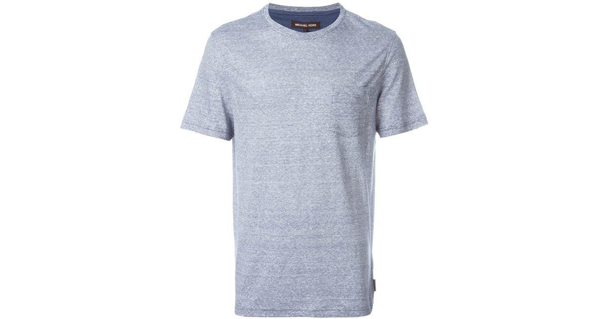 michael kors chest pocket t shirt in blue for men lyst. Black Bedroom Furniture Sets. Home Design Ideas