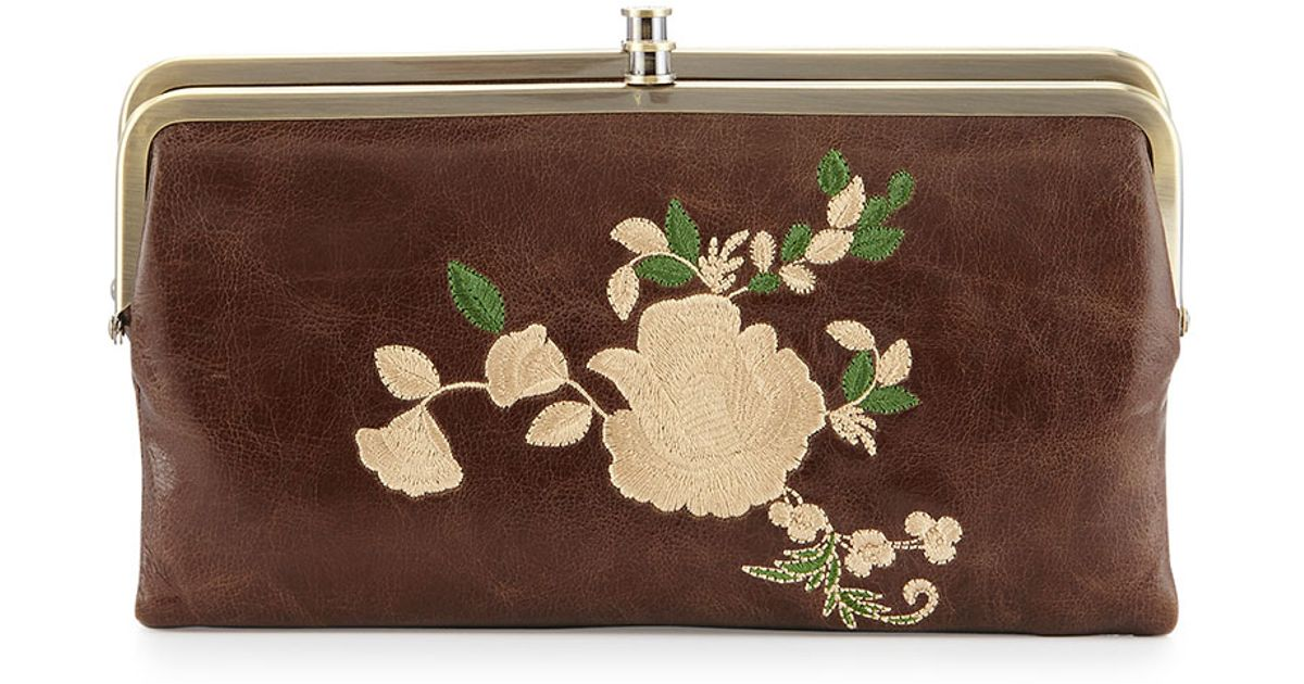 923ca810bc Hobo Brown Lauren Embroidered Leather Wallet