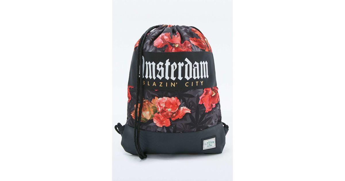 d7064d8b128 Cayler   Sons Amsterdam Black Tulip Camo Gym Bag in Black for Men - Lyst