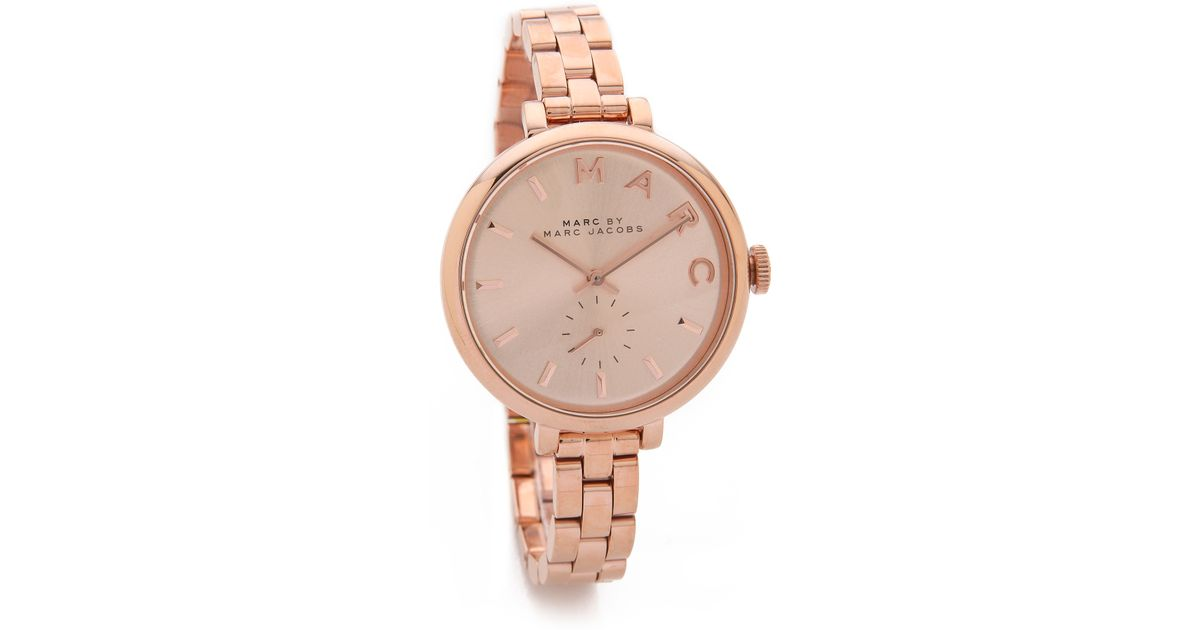 Marc By Marc Jacobs Skinny Baker Watch Rose Gold In Pink Lyst