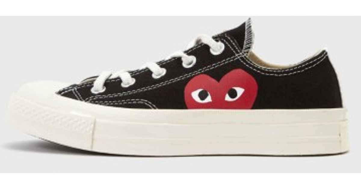 74732f765b36 Play Comme des Garçons Low-Top Canvas Sneakers in Black - Lyst