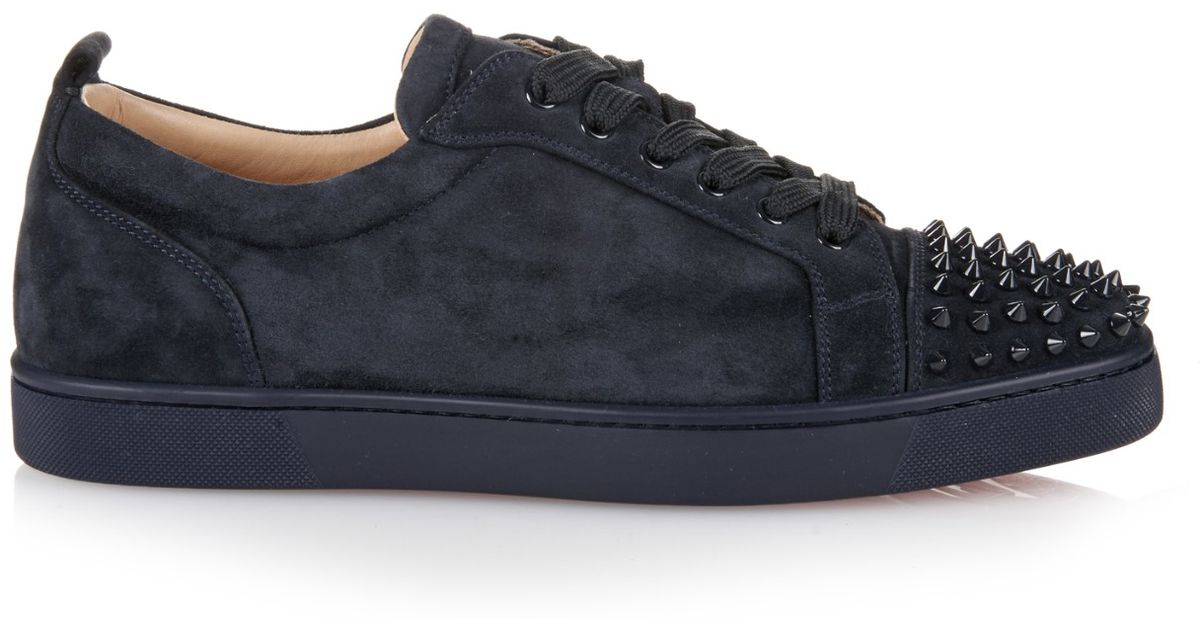 cheaper ed529 0a9a1 Christian Louboutin Blue Louis Suede Low-Top Sneakers for men