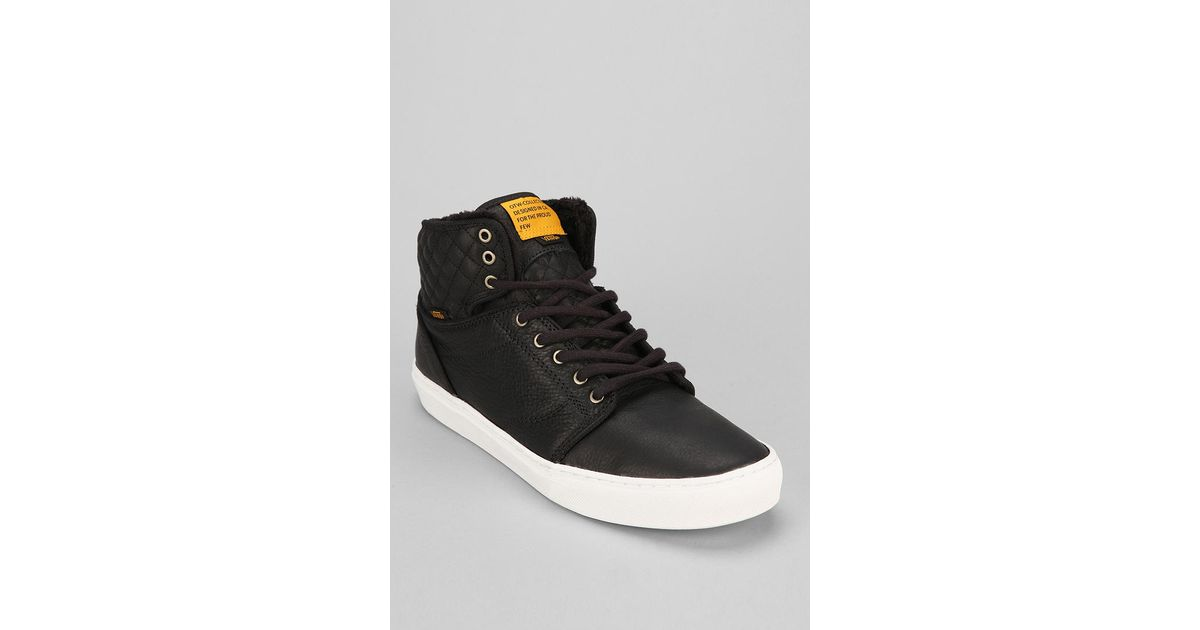 acbf030340 Lyst - Urban Outfitters Otw By Vans Alomar Quilted Mens Leather Sneaker in  Black for Men