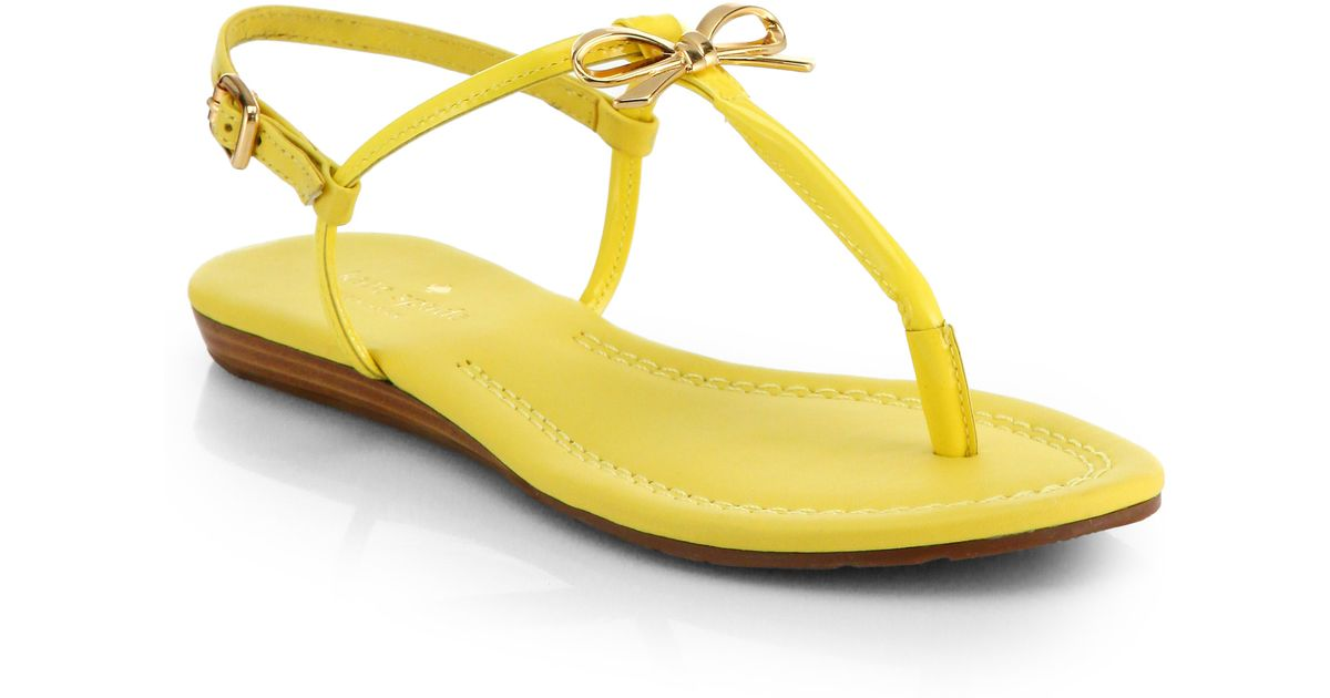 Kate Spade New York Bow Leather Sandals visit new for sale cheap sale browse rGfwhOWEP