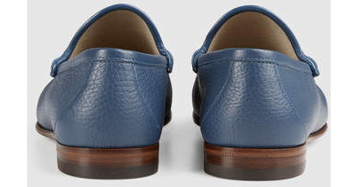 40cfab83718 Lyst - Gucci 1953 Horsebit Leather Loafer in Blue for Men