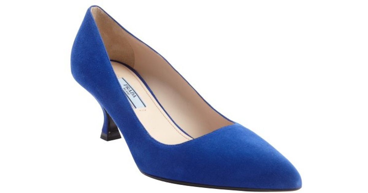 Prada Suede kitten heel pumps with credit card browse for sale discount footlocker pictures 2014 new cheap online 1sDFp1dYO
