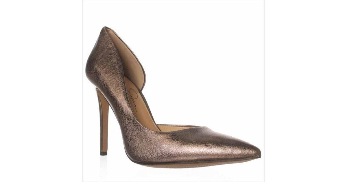 24d8f165c19b Lyst - Jessica Simpson Claudette Pointed Toe Pump in Gray