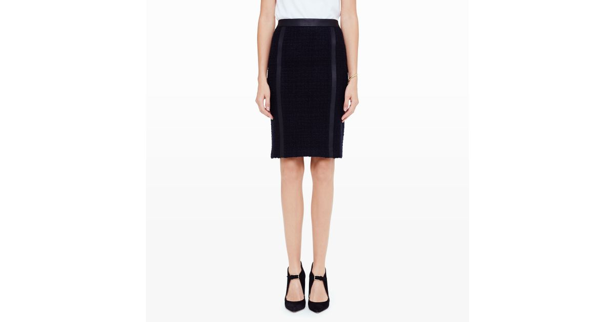 club monaco azadeh boucl 233 pencil skirt in black lyst