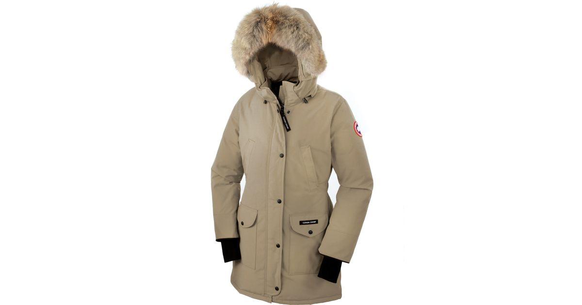 for women in brown trillium parka canada goose