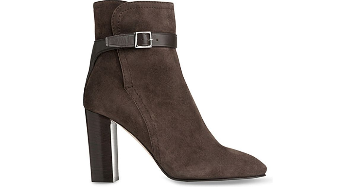 l k kiely suede ankle boots in brown lyst