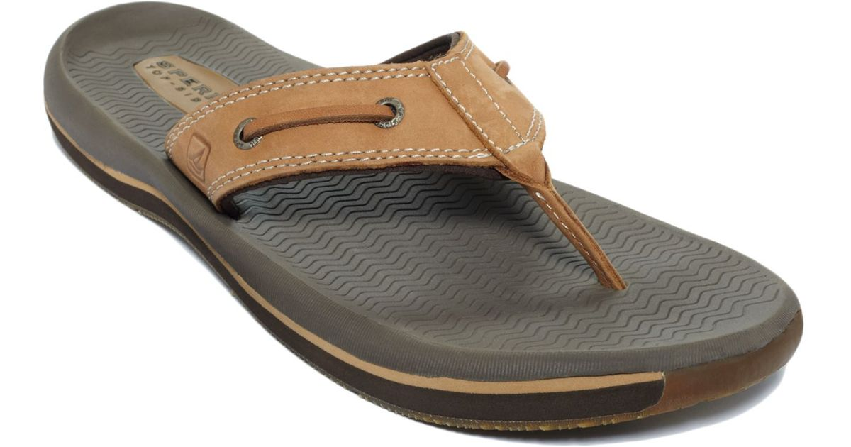 b09cb0a2e Lyst - Sperry Top-Sider Men s Santa Cruz Thong Sandals in Brown for Men
