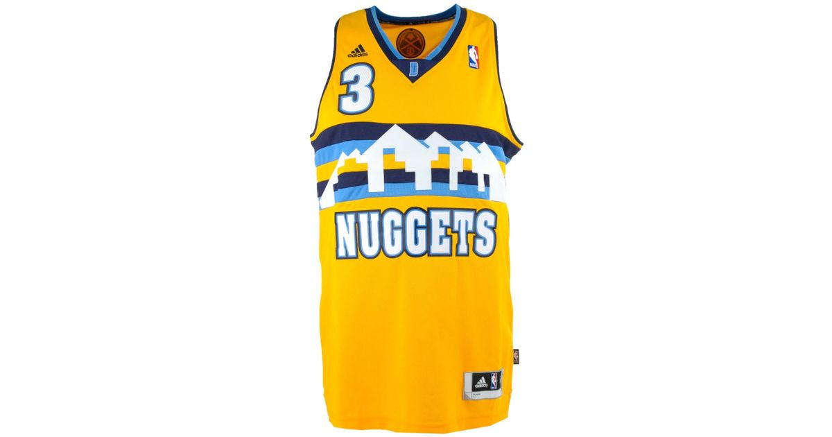the latest f619c a8863 Adidas Yellow Men's Ty Lawson Denver Nuggets Swingman Jersey for men