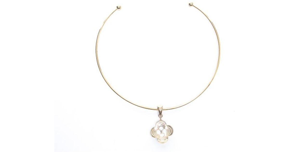 1fbc23d6089ea Louis Vuitton - Metallic Pre-owned Gold A La Folie Choker Necklace - Lyst