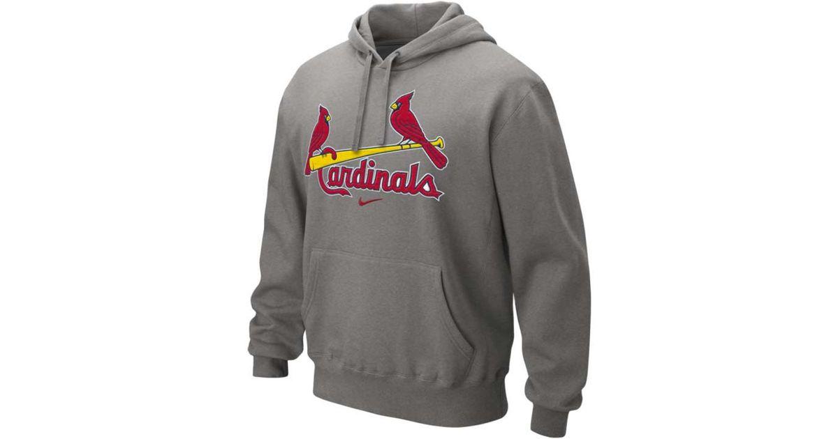 huge discount deff4 c1790 Nike Gray Men'S St. Louis Cardinals Classic Hoodie for men