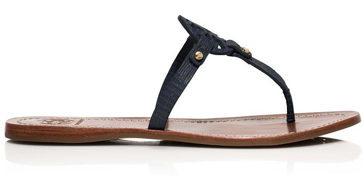 e3f03d9f1 Lyst - Tory Burch Mini Miller Flat Thong Sandal in Blue