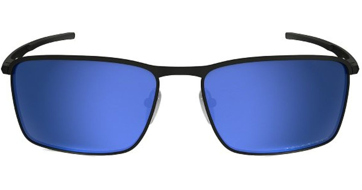 d1fd1ed860f ... ireland lyst oakley conductor 6 oo 4106 4106 03 matte black square  metal sunglasses in metallic